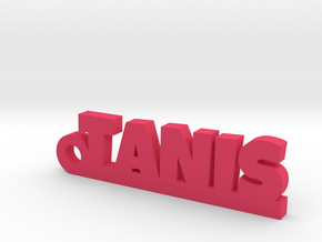 TANIS_keychain_Lucky in Pink Processed Versatile Plastic