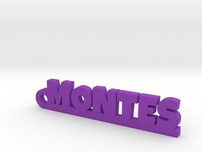 MONTES_keychain_Lucky in Purple Processed Versatile Plastic