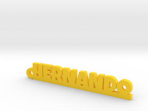 HERNANDO_keychain_Lucky in Yellow Processed Versatile Plastic