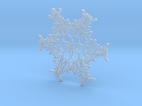 Elijah snowflake ornament in Smooth Fine Detail Plastic