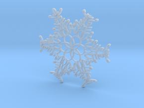 Elijah snowflake ornament in Smooth Fine Detail Plastic