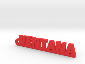 VENTANA_keychain_Lucky in Red Processed Versatile Plastic