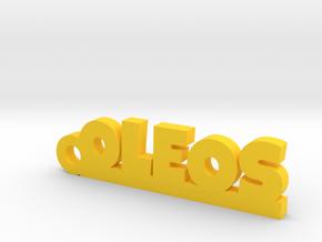 OLEOS_keychain_Lucky in Yellow Processed Versatile Plastic