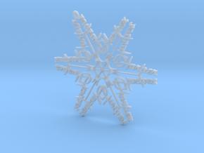 Harper snowflake ornament in Smooth Fine Detail Plastic