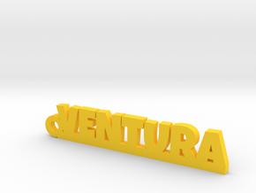 VENTURA_keychain_Lucky in Yellow Processed Versatile Plastic