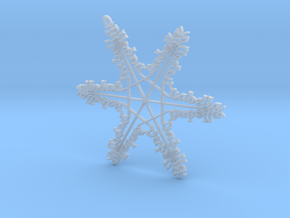 Isabella snowflake ornament in Smooth Fine Detail Plastic