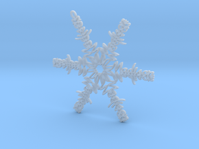 Madison snowflake ornament in Smooth Fine Detail Plastic