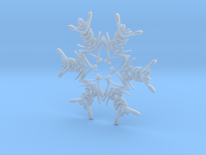 Noah snowflake ornament in Smooth Fine Detail Plastic