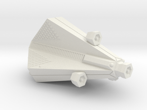 3788 Scale Tholian Destroyer Scout (DDS) SRZ in White Natural Versatile Plastic