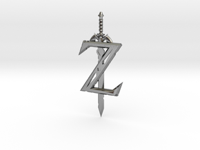 Breath of the Z -- Pendant in Polished Silver