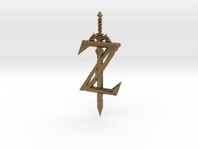 Breath of the Z -- Pendant in Natural Bronze