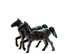 Horse with REINS HO Scale in Smooth Fine Detail Plastic