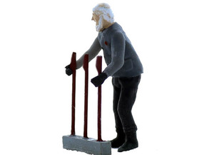 Machine Operator Standing O Scale in Smooth Fine Detail Plastic