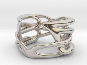 Polymnie ring in Rhodium Plated