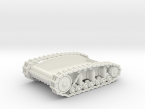 T-18 Running Gear Box in White Natural Versatile Plastic