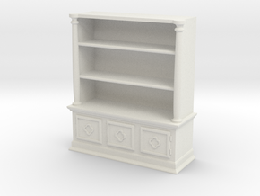 Bookshelf, Square - 1:48 in White Natural Versatile Plastic