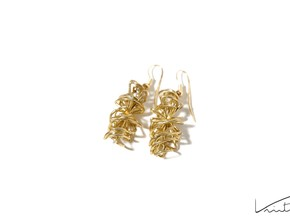 Cyclone earrings in Raw Brass