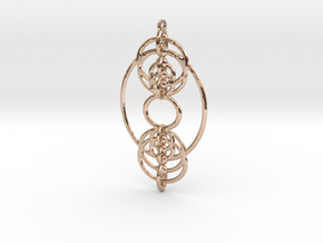 YyDS Pendant in 14k Rose Gold Plated Brass