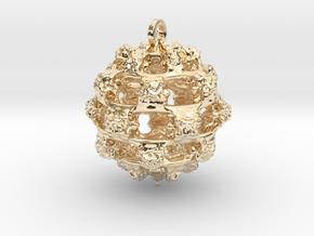 Integer Fractal Pendant in 14K Yellow Gold