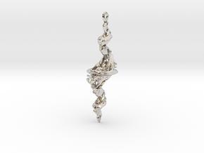 Tricorn Fractal Pendant in Platinum