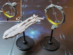 Space portals (2-4-6 pcs) - Fleet Commander in White Processed Versatile Plastic: Small