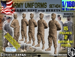 1/160 Modern Uniforms Set404 in Smooth Fine Detail Plastic