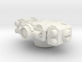 Rocket Turret in White Premium Versatile Plastic
