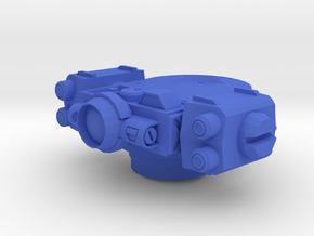 Rocket Turret in Blue Processed Versatile Plastic