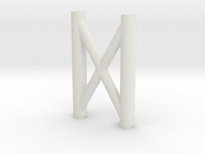 SCX10 H-Brace (Rear Cross Brace) in White Natural Versatile Plastic