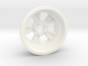 "1:8 Rear ""Bear Paw"" American Wheel in White Processed Versatile Plastic"