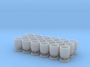 18 wooden barrels N scale in Frosted Ultra Detail