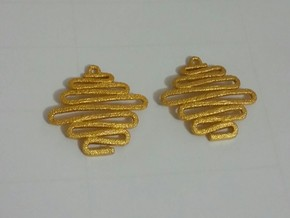 LIAT EARRING  in Polished Gold Steel