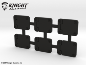 TR10011 TRX-4 Door Hinge plate in Black Natural Versatile Plastic