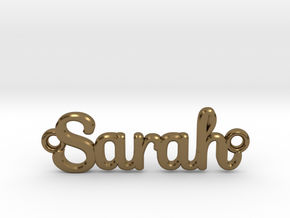 Personalised Name Pendant in Polished Bronze