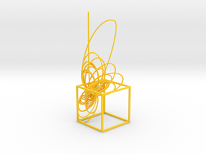 Cassini Prime - cube in Yellow Processed Versatile Plastic
