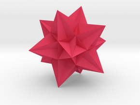 Great Icosahedron in Pink Processed Versatile Plastic