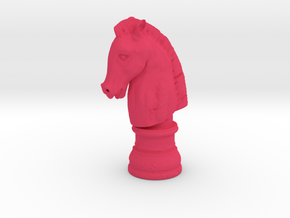 HORSE HEAD  in Pink Processed Versatile Plastic