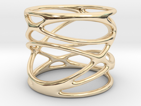 Ring - Mimas Seven in 14k Gold Plated Brass