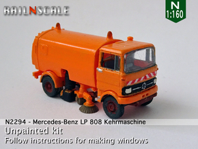 Mercedes-Benz LP 808 Kehrmaschine (N 1:160) in Smooth Fine Detail Plastic
