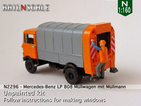 Mercedes-Benz LP 808 Müllwagen mit Müllmann (N) in Smooth Fine Detail Plastic