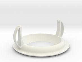 Recessed ceiling mount for Fibaro Motion Sensor v2 in White Natural Versatile Plastic