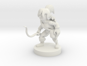 Halfling Female Ranger in White Natural Versatile Plastic