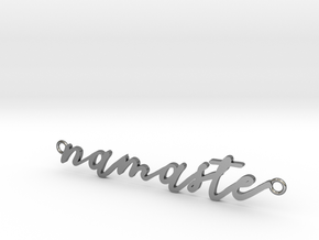 Namaste -- Calligraphy Pendant in Polished Silver