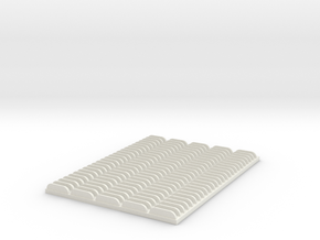 1/25 4in Louver Block in White Natural Versatile Plastic