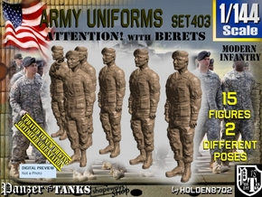1/144 Modern Uniforms Set403 in Smooth Fine Detail Plastic