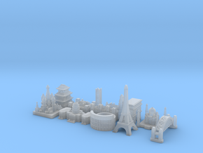 Capital Set (Larger) in Smooth Fine Detail Plastic