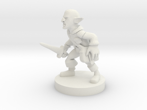 Deep Gnome Rogue in White Natural Versatile Plastic