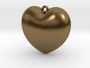Heart-Pendant in Natural Bronze