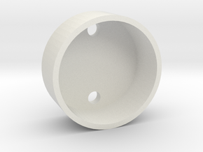 28 mm Base Speaker Holder in White Natural Versatile Plastic