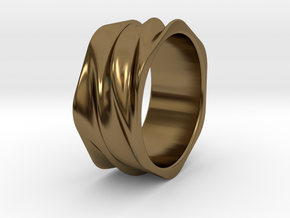 Tidal Ring in Polished Bronze: 6 / 51.5